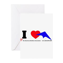 I love Sport Kites Greeting Cards (Pk of 20)