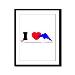 I love Sport Kites Framed Panel Print