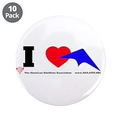 "I love Sport Kites 3.5"" Button (10 pack)"