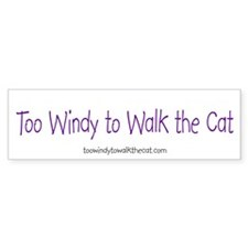 Too Windy to Walk the Cat (purple on white)