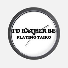 Rather be Playing Taiko Wall Clock