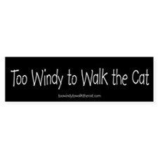 Too Windy to Walk the Cat (black)