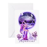 Aquarius Art Greeting Cards