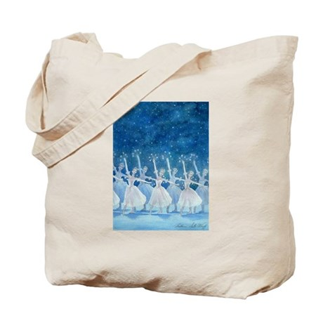 Dance of the Snowflakes Ballet Tote Bag