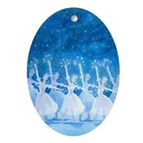 Nutcracker ballet Oval Ornaments