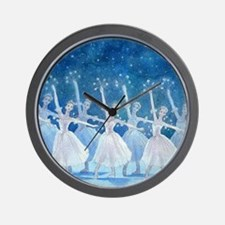 Dance of the Snowflakes Ballet Wall Clock
