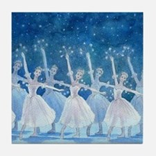 Dance of the Snowflakes Ballet Tile Coaster