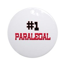 Number 1 PARALEGAL Ornament (Round)