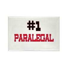 Number 1 PARALEGAL Rectangle Magnet