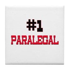Number 1 PARALEGAL Tile Coaster