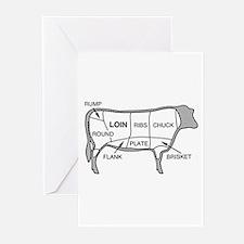 Beef Diagram Greeting Cards (Pk of 10)