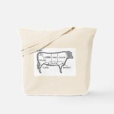 Beef Diagram Tote Bag