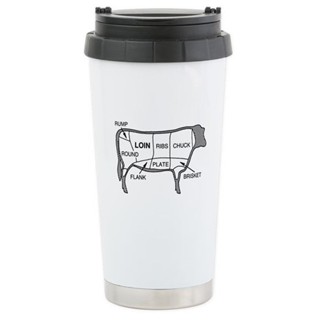 Beef Diagram Stainless Steel Travel Mug