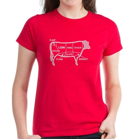 Beef Diagram Women's Dark T-Shirt