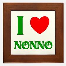 I Love Nonno Framed Tile