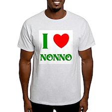 I Love Nonno Ash Grey T-Shirt
