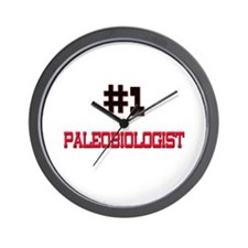 Number 1 PALEOBIOLOGIST Wall Clock