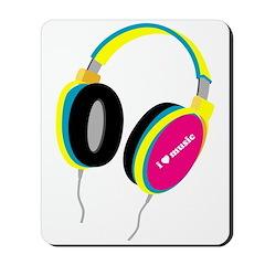 House Music Headphones Mousepad
