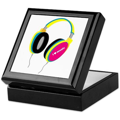 House Music Headphones Keepsake Box