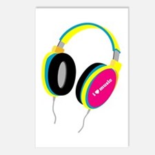 House Music Headphones Postcards (Package of 8)