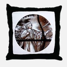 """Glass-vitrail 1-1"" Throw Pillow"