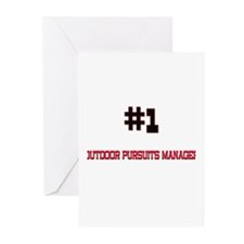 Number 1 OUTDOOR PURSUITS MANAGER Greeting Cards (