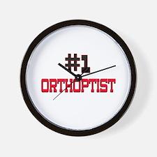 Number 1 ORTHOPTIST Wall Clock