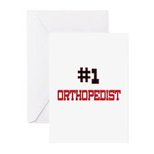 Number 1 ORTHOPEDIST Greeting Cards (Pk of 10)