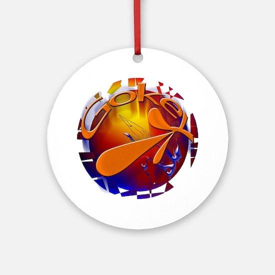 Shatter ROCK DANNY GOKEY Ornament (Round)
