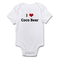 I Love Coco Bear Infant Bodysuit