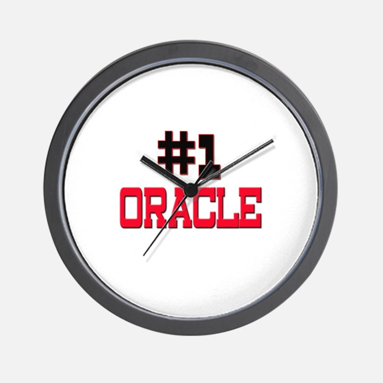 Number 1 ORACLE Wall Clock