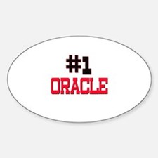 Number 1 ORACLE Oval Decal
