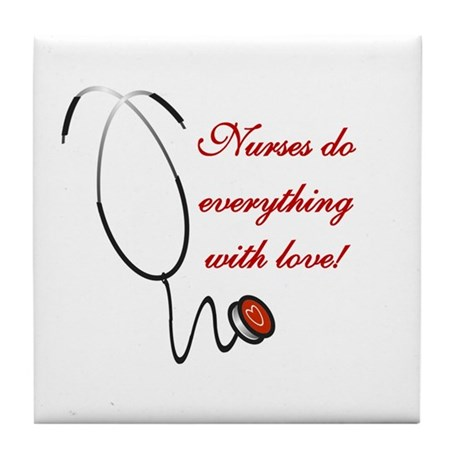Nurse's Love Tile Coaster