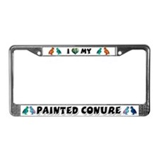 Painted Conure License Plate Frame