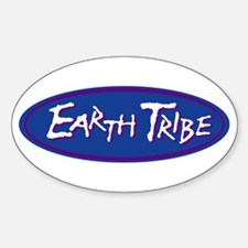 Earth Tribe Blue Logo Oval Decal