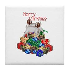 Boer Goat Christmas Tile Coaster