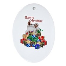 Boer Goat Christmas Ornament (Oval)