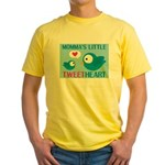 MOMMA'S LITTLE tweet HEART Yellow T-Shirt