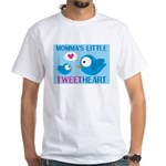 MOMMA'S LITTLE tweet HEART White T-Shirt
