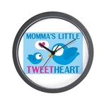 MOMMA'S LITTLE tweet HEART Wall Clock