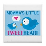 MOMMA'S LITTLE tweet HEART Tile Coaster