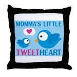 MOMMA'S LITTLE tweet HEART Throw Pillow