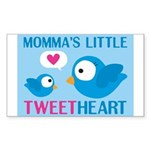 MOMMA'S LITTLE tweet HEART Rectangle Sticker 50 p