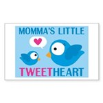 MOMMA'S LITTLE tweet HEART Rectangle Sticker 10 p