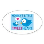MOMMA'S LITTLE tweet HEART Oval Sticker (10 pk)