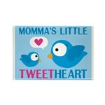 MOMMA'S LITTLE tweet HEART Rectangle Magnet (10 pa
