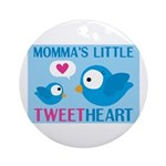 MOMMA'S LITTLE tweet HEART Ornament (Round)
