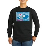 MOMMA'S LITTLE tweet HEART Long Sleeve Dark T-Shir