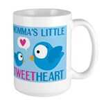 MOMMA'S LITTLE tweet HEART Large Mug