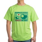 MOMMA'S LITTLE tweet HEART Green T-Shirt